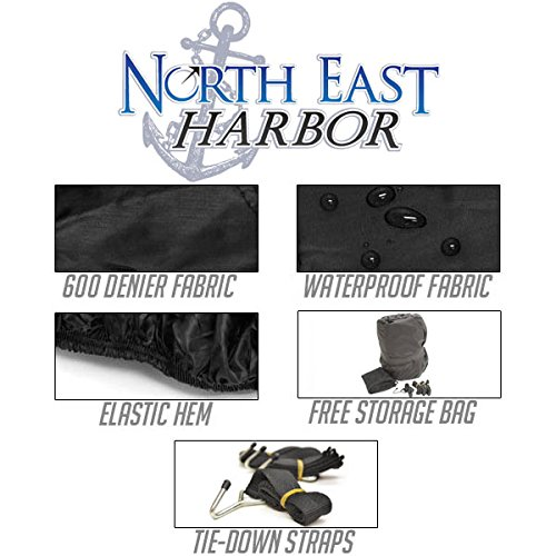 Waterproof Trailerable Snowmobile Cover Covers Arctic Cat Polaris Ski Doo Yamaha Fits Length 126''-138'' by North East Harbor