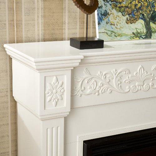 SEI Calvert Electric Fireplace, Ivory