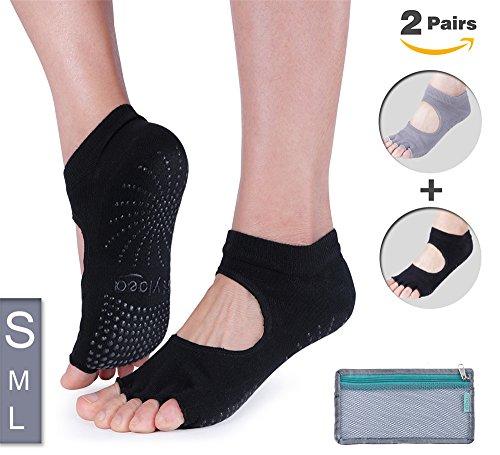 Hylaea Yoga Socks for Women, Non Slip Grip Socks for Pilates, Ballet, Barre, Bikram, Studio, Workout