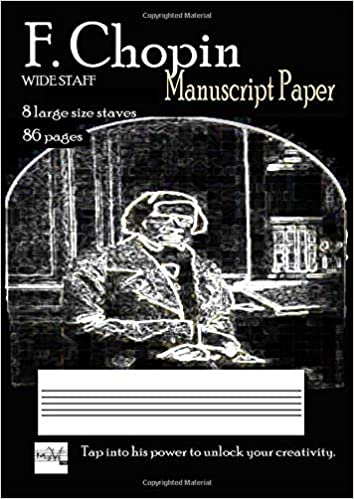 f chopin manuscript paper wide staff without bar lines 8 large