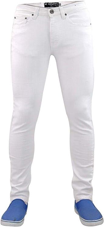 Seven Series Designer 7 Pantalones Vaqueros Para Hombre Elasticos Rectos Ajustados Amazon Es Ropa Y Accesorios