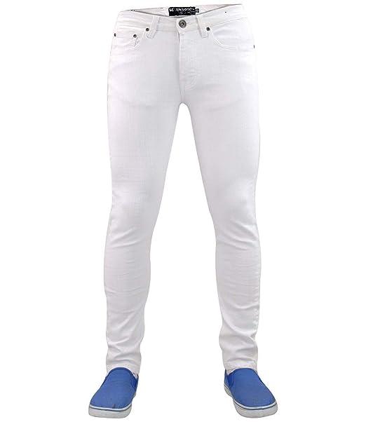 Seven Series Designer 7 - Pantalones vaqueros para hombre (elásticos, rectos, ajustados)