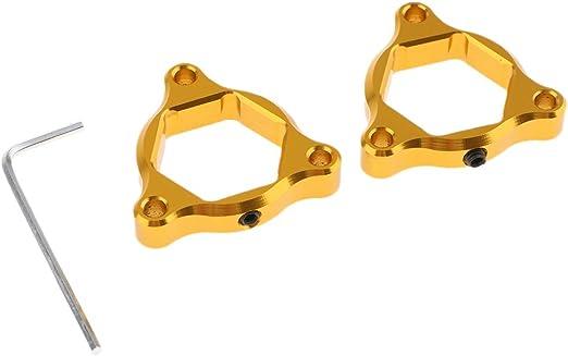 non-brand Paar Motorrad CNC Front Sechskant Eloxiert Gabel Vorspannung Einsteller 22mm F/ür Honda CBR 929RR CBR1000RR CBR 600RR CBR 954RR Gold