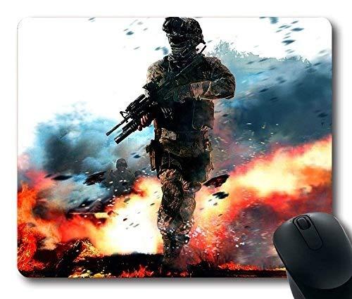 (Advanced Lock Edge) Call of Duty Modern Warfare Military Soldier Fire Gun Action Non-Slip Neoprene Rubber Standard (Call Of Duty Mouse Pad)