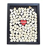 Wedding Drop Box Wedding Guestbook Black Frame With Red Heart Mr & Mrs Wedding Guestbook