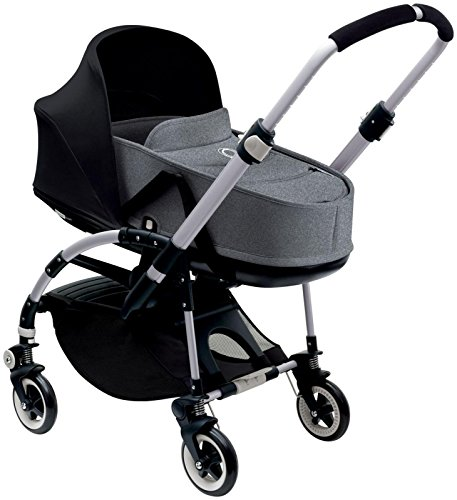 Bugaboo Bee3 Bassinet & Sun Canopy - Black - Grey Melange by Bugaboo