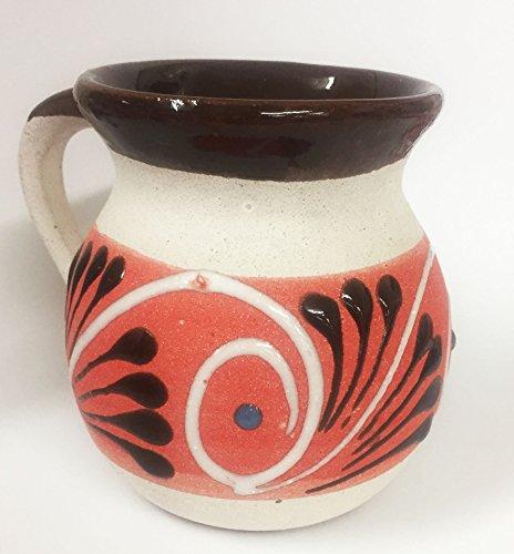 Hand Painted Ceramic Cups / Jarrito Ponchero (Red)
