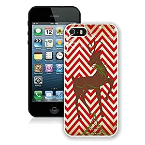 2014 Newest Chevron iPhone 6 4.7 Protective Cover Case Christmas Deer iPhone 6 4.7 TPU Case 2 White