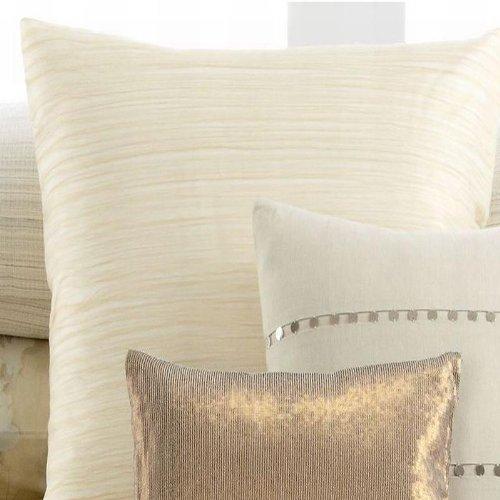 Calvin Klein Home Neutral Double Weave Silk Threads European Sham - Butter