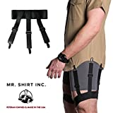 Quality American Made''Deluxe'' Shirt Stay from Mr. Shirt Inc (Black)