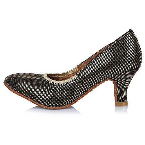 Tango Salsa Leather 30628 Ballroom Dance Toe 58mm Shoes Women Latin YFF 5 Dance Shoes 3 Closed Dancing Shoes Modern Professional Girls Party 0qY8F