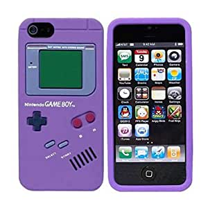 iPhone 5 Game Boy Soft Silicone Case(Purple)