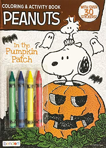 Peanuts Snoopy in The Pumpkin Patch Coloring Activity Book & Crayons - with Over 30 Stickers ()