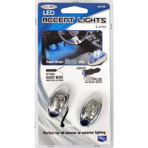 Custom Accessories 23735 Blue LED Accent Light - 2 Piece