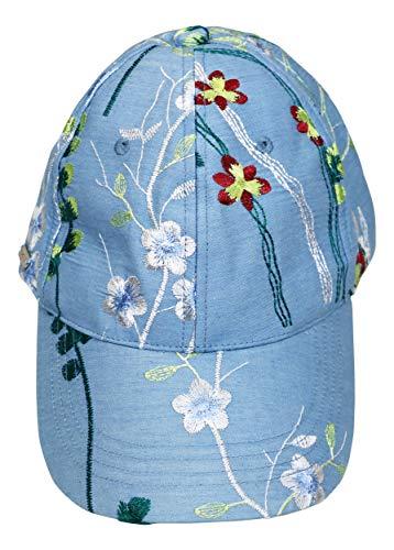 Blue Denim Embroidered Baseball Cap Hat ()