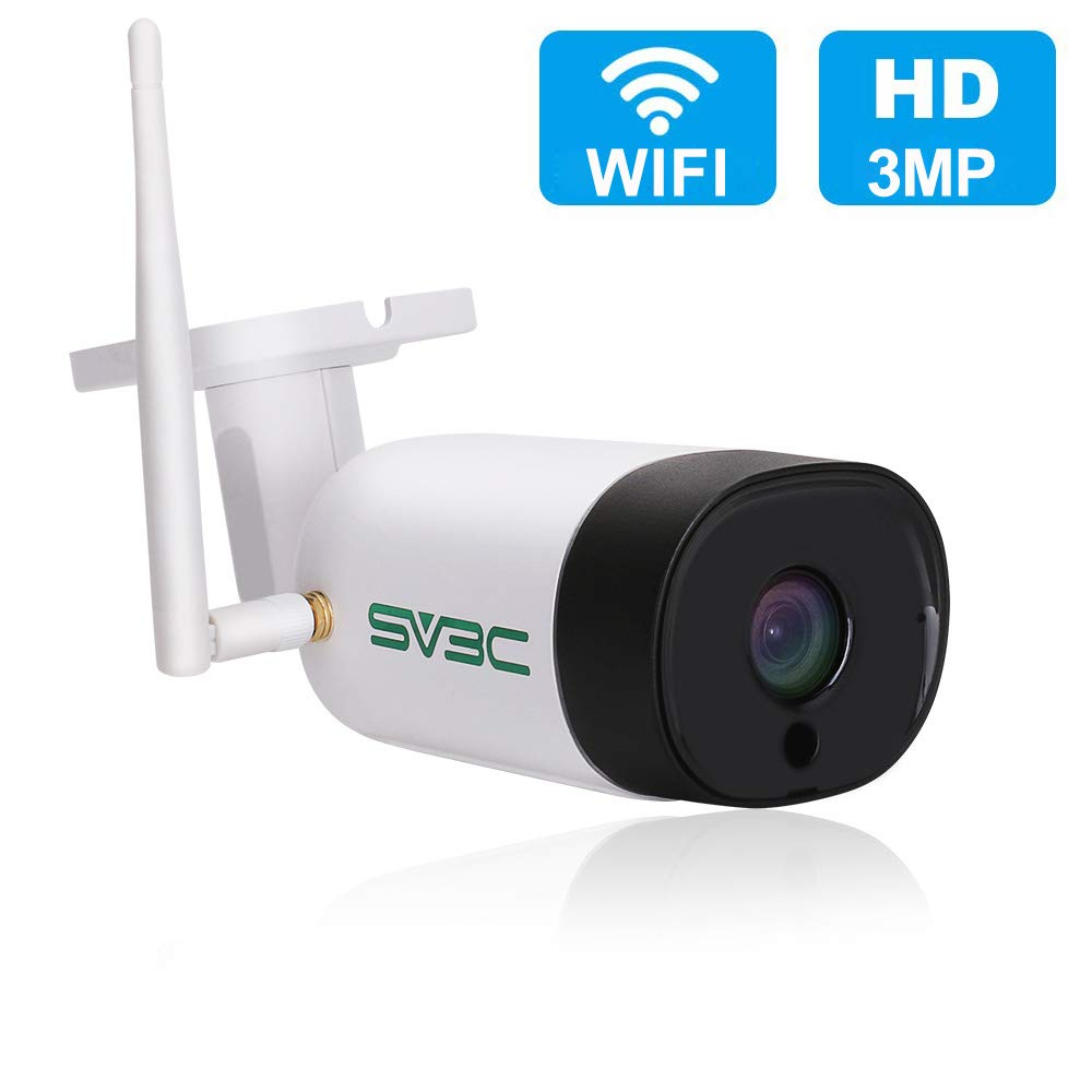 SV3C Two-Way Audio WiFi Camera Outdoor, 3MP Wireless Surveillance Camera, Motion Detection Security Camera, IR Night Vision IP Camera, IP66 Waterproof CCTV Outdoor Indoor, Support Max 128GB SD Card by SV3C