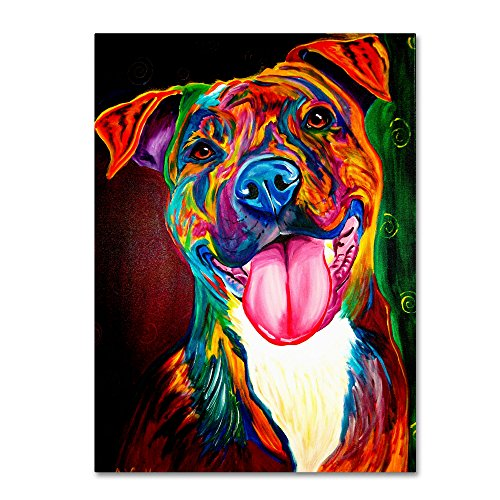 Smile Time Artwork by DawgArt, 24 by 32-Inch Canvas Wall Art