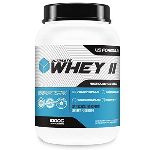 Ultimate Whey II - unser bestes Proteinpulver aus 100% Molkeneiweiß Hydrolysate, BBGenics Sports Nutrition, 1000g Erdbeere