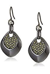 """Kenneth Cole New York """"Pave Status"""" Sculptural Drop Earrings"""