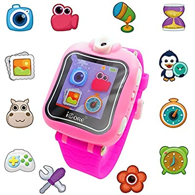 iCore Game Watch, Kids Smartwatch, Electronic Watch with Video Games,Wearable Learning Timer Alarm Clock Watch with Camera for Kids by iCore