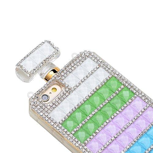 Phone Taschen & Schalen Diamant verkrustete Parfüm Flasche Form Kunststoff Fall mit Kette für iPhone 6 Plus & 6S Plus ( SKU : S-IP6P-0195D )