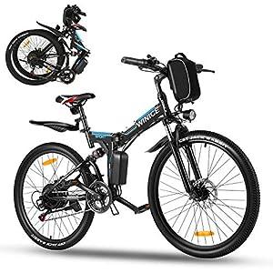 """512AHz6pWVL. SS300 Vivi 26"""" Bicicletta elettrica, 250W Bicicletta elettrica Pieghevole, Bicicletta elettrica Pieghevole Adulto,Batteria Rimovibile 36V / 8AH, Bici elettrica Donna 21 velocità, Fino a 32 km/h,40 km"""