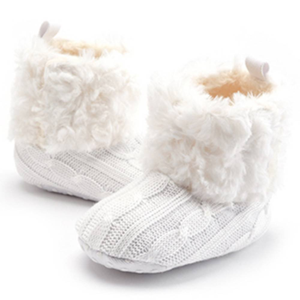Xinghan Plus Velvet Baby Toddler Shoes Soft Sole Bow Anti-Slip Winter Wool Warm Indoor Baby Boots