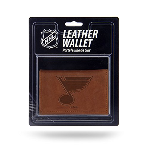 Rico Industries NHL St.Louis Blues Leather Trifold Wallet with Man Made Interior