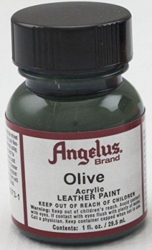 (Angelus Olive Acrylic Leather Paint)