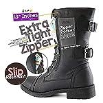 Minetom Femmes Bottines Militaire Fermeture Éclair Lacets Bottes de Combat Automne Hiver Chelsea Bottes Chaussures… 8