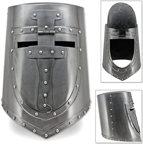 Medieval sugar loaf templar crusader functional steel replica helmet Halloween g