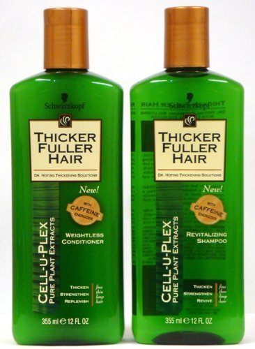 Thicker Fuller Hair Duo Set, Revitalizing Shampoo & Weightless Conditioner, 12 Oz Bottles by Chunkaew