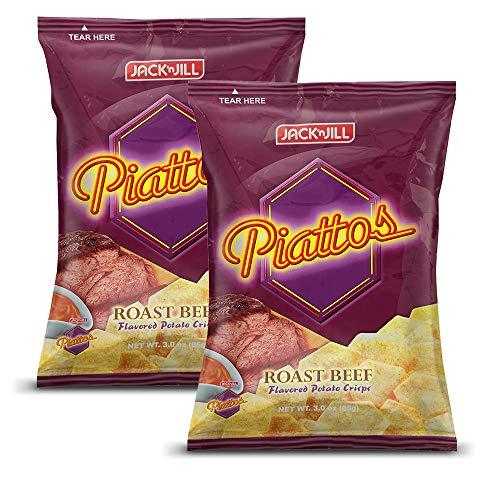 Jack'n Jill Piattos Flavored Potato Crisps 2.8 Oz Roast Beef Flavored (Pack of 2) ()