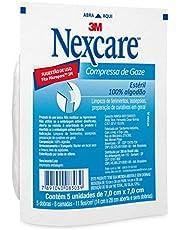 Compressa de Gaze Estéril Nexcare 7,5cm x 7,5cm Pacote 5 Unidades