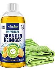 Sinaasappeloliereiniger concentraat set vetoplossend en sterk geconcentreerd - 500 ml reiniger & microvezel borsteldoek