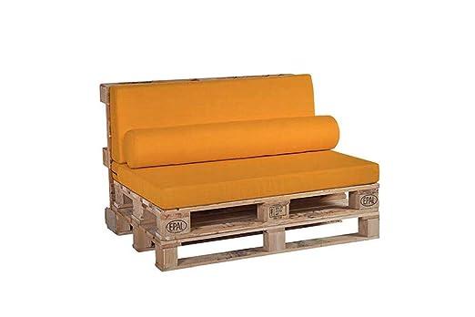 HOGAR TAPIZADO Juego de Cojines Color Amarillo para Palet ...