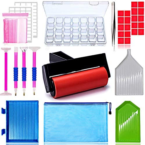 56ps- 5D Diamond Painting Accessories & Tools Kits for Kids or Adults to Make Diamond Painting Art