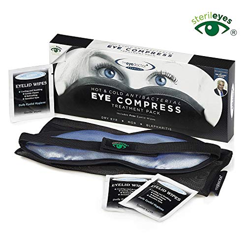 The Eye Doctor Plus Premium Moist Heat Eyelid Compress with Soft Removable Hygienic Cover (Best Tea Bag For Stye)