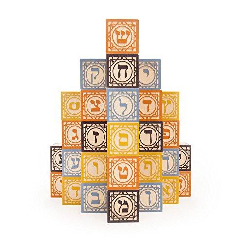Uncle Goose Hebrew Blocks - Made in ()