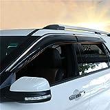 Vesul Updated Side Window Visor Vent Rain Guard Wind Deflectors Shield Sun Shade Smoke Gray Compatible with Ford Explorer 2012 2013 2014 2015 2016 2017 2018 2019