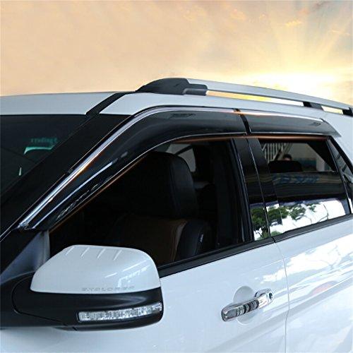 Vesul Updated Side Window Visor Vent Rain Guard Wind Deflectors Shield Sun Shade Smoke Gray Compatible with Ford Explorer 2012 2013 2014 2015 20162017 2018 2019 from Vesul