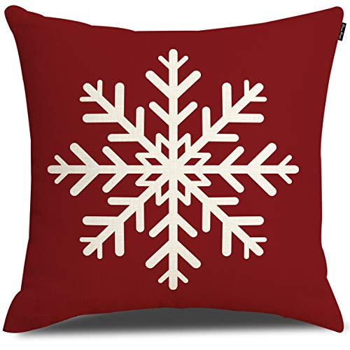 Merry Christmas Snowflake Throw Pillow Cover Cushion Case