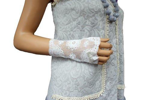 Gants Victorian, Wedding Romantic fingerless gloves, longueur 16 cm