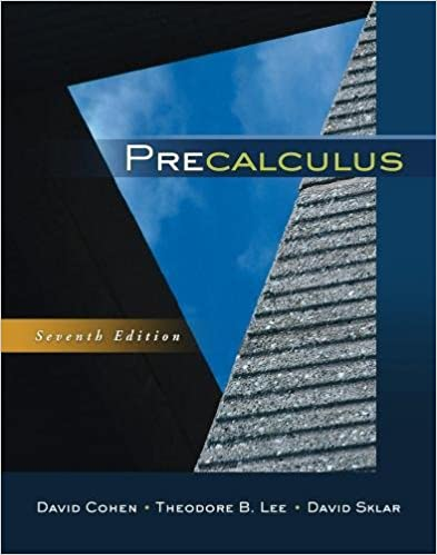 Precalculus: David Cohen, Theodore B. Lee, David Sklar ...