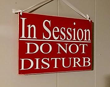 En Período de sesiones... No molestar Letrero De Madera ...