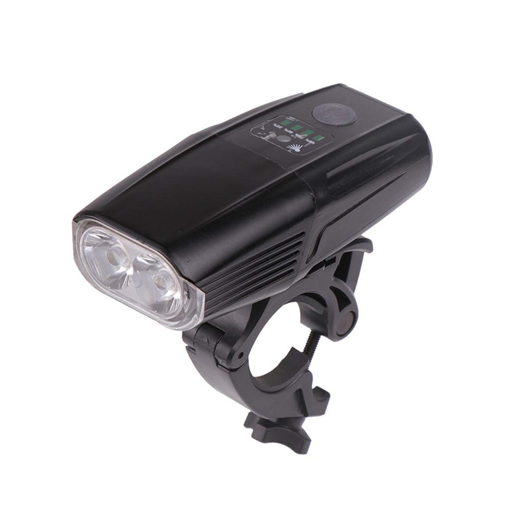 USB Charging Mountain Bike Headlights with Electric Quantity Display, LED Light, Bicycle Light,Include 1 Bicycle Light+1 Headlight Bracket+1 USB Data Cable