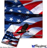 Sony PS3 Slim Skin - American USA Flag (Ole Glory) Centered Eagle