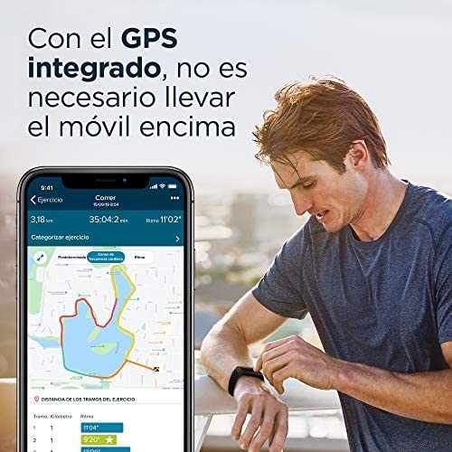 Añadiendo al carrito...Añadido a la cestaNo añadidoNo añadidoFitbit Charge 4 Pulsera de actividad premium con GPS integrado, sumergible hasta 50m y 7 dias de batería