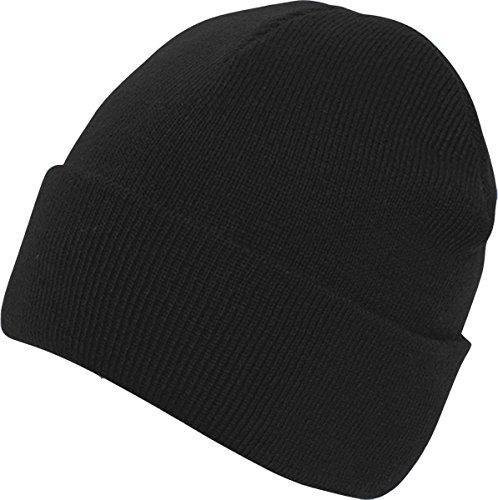 Absoluta ropa hombres adultos gorro Casualwear Beanie sombrero doble piel Pee Cap negro