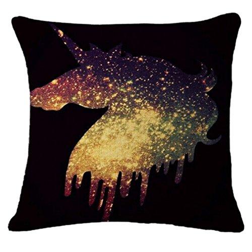 Bristol Sofa - GUAngqi Home Decor Unicorn Pillowcase Pillow Cover Cushion Cover Sofa Home Bed Decor,Dark blue